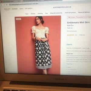 Size 2 Anthropologie skirt